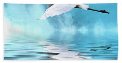In Flight Bath Towel by Cyndy Doty