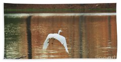 Hand Towel featuring the photograph In Flight by Kim Henderson