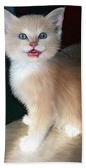 Bath Towel featuring the digital art In Memoriam Baby Gussy by Holly Ethan