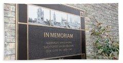 In Memoriam - Ypres Bath Towel