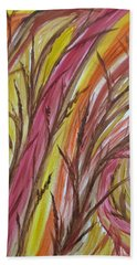 In Rushes Fall Hand Towel by Sharyn Winters