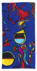 In Search Of Trilateration Bath Towel