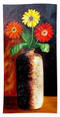 In Sharp Contrast.  Sold Bath Towel by Susan Dehlinger