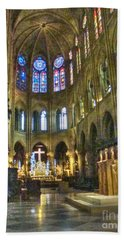 In The Cathedral Hand Towel by Yury Bashkin
