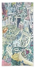 In The Cement Garden Hand Towel by Vickie G Buccini