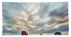 Bath Towel featuring the photograph In The Clouds by Jon Glaser