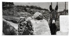 Hand Towel featuring the photograph In The Countryside Of Mykonos by Laura Melis