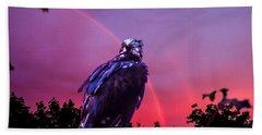 In The Eye Of A Hawk Hand Towel by Glenn Feron