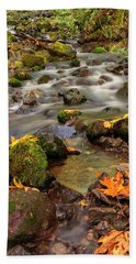 In The Forest In Fall Bath Towel