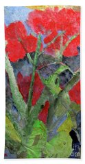 In The Garden Hand Towel by Sandy McIntire