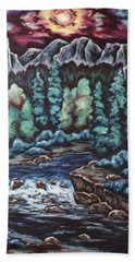 Hand Towel featuring the painting In The Land Of Dreams by Cheryl Pettigrew