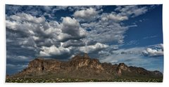 Bath Towel featuring the photograph In The Midst Of The Superstitions  by Saija Lehtonen