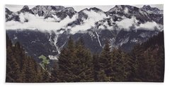 In The Mountains Hand Towel by Daniel Precht