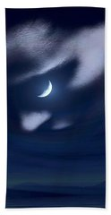 In The Quiet Of Your Mind Blue Hand Towel by ISAW Gallery