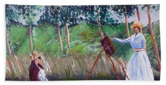 In The Woods At Giverny Hand Towel by Luis F Rodriguez