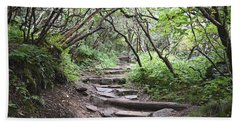 Bath Towel featuring the photograph The Enchanted Forest Path by Gary Smith