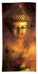 Hand Towel featuring the photograph Incense Buddha by Daniel Hagerman