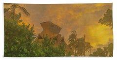 Incoming Storm On Playa Diamante Acapulco Bath Towel