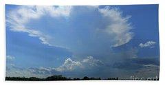 Incoming Storm Over Barnegat Bay Bath Towel