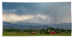 Bath Towel featuring the photograph Incoming Storm Panorama View by James BO Insogna
