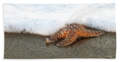 Hand Towel featuring the photograph Incoming Tide by Art Block Collections