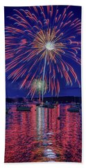 Hand Towel featuring the photograph Independence Day In Boothbay Harbor by Rick Berk