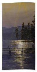 Independence Point, Lake Coeur D'alene Bath Towel