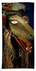 Indian Animal Mask Hand Towel by LeeAnn McLaneGoetz McLaneGoetzStudioLLCcom