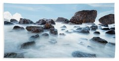 Indian Beach At Ecola State Park, Oregon  Hand Towel