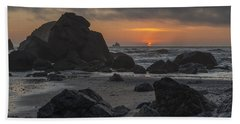 Indian Beach Sunset Bath Towel