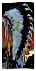 Indian Chief Headdress Bath Towel