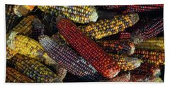 Hand Towel featuring the photograph Indian Corn by Joanne Coyle