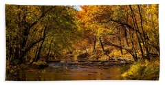 Indian Creek In Fall Color Hand Towel