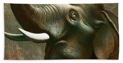 Indian Elephant 2 Hand Towel