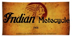 Indian Motocycle 1901 - America's First Motorcycle Company Bath Towel