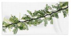 Indian Needle Bush Tree Leaves Hand Towel