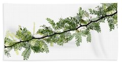 Indian Needle Bush Tree Leaves Bath Towel