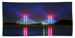 Hand Towel featuring the photograph Indian River Inlet Bridge by Rob Sellers