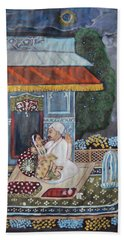 Hand Towel featuring the painting Indian Romance by Vikram Singh