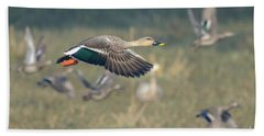 Indian Spot-billed Duck 01 Hand Towel
