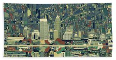 Indianapolis Skyline Abstract 3 Hand Towel