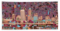 Indianapolis Skyline Abstract 4 Hand Towel