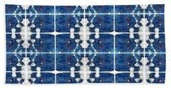 Indigo Abstract Hand Towel by Patricia Strand