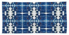 Indigo Abstract Bath Towel by Patricia Strand