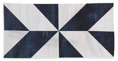 Indigo And Blue Quilt Bath Towel by Debbie DeWitt