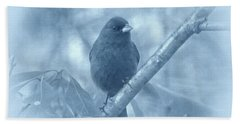 Hand Towel featuring the photograph Indigo Bunting In Blue by Sandy Keeton