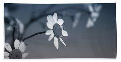 Indigo Daisies 1- Art By Linda Woods Bath Towel by Linda Woods