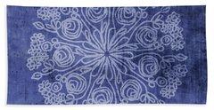 Indigo Mandala 2- Art By Linda Woods Hand Towel