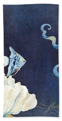 Indigo Ocean - Floating Octopus Hand Towel
