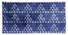 Indigo Triangles- Art By Linda Woods Hand Towel